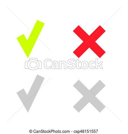 line green check mark or check box icons-line green check mark or check box icons set - csp48151557-5