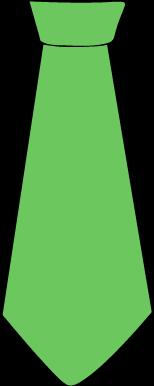 Green Tie - Clip Art Tie