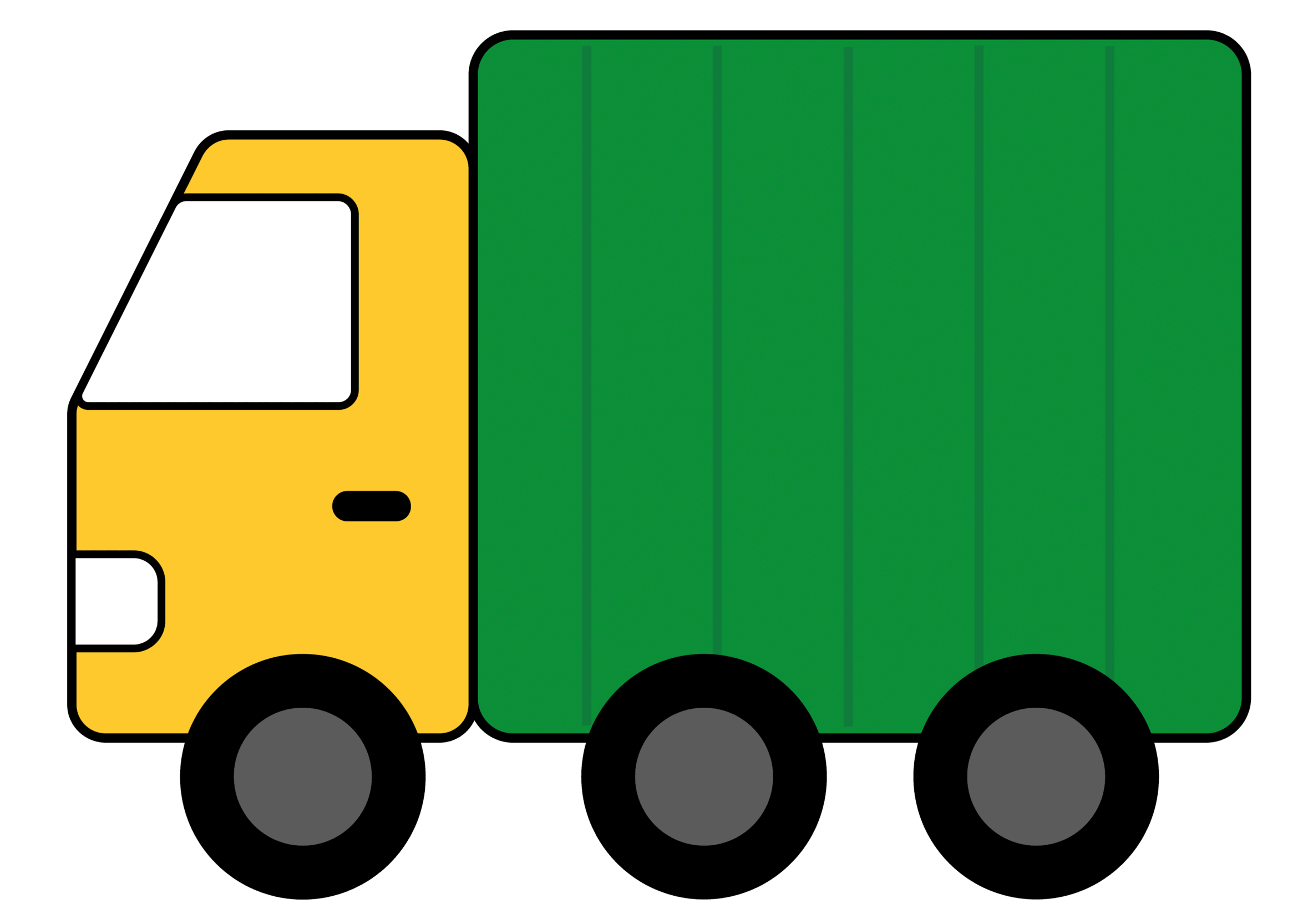 Green Toy Trucks Clipart #1