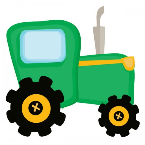 Green Tractor Art Free Clipart Images