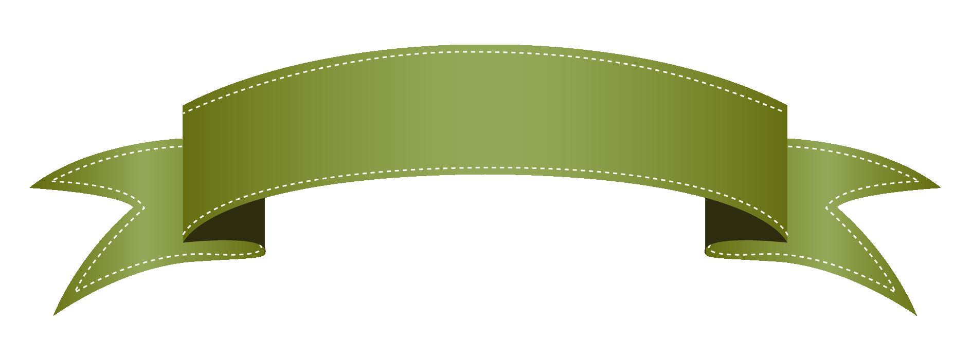 Green transparent banner clipart