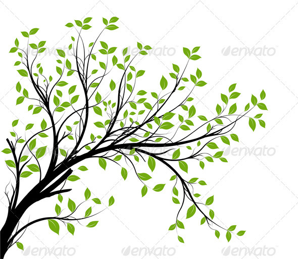 Green Tree Clip Art Branches-Green Tree Clip Art Branches-11
