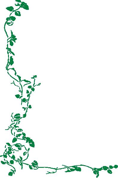 Green Vine Border Clip Art At Clker Com Vector Clip Art Online