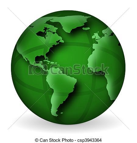 ... Green World Globe Illustration - Ill-... Green World Globe Illustration - Illustration of an isolated.-13