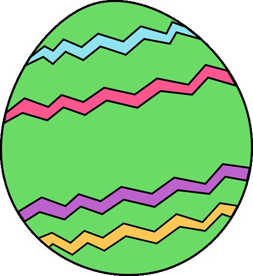 Green Zig Zag Easter Egg