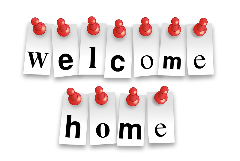 Greetings Welcome Home Clipart