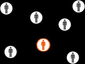 Grey And Orange Men Social Network Clip -Grey And Orange Men Social Network Clip Art-3