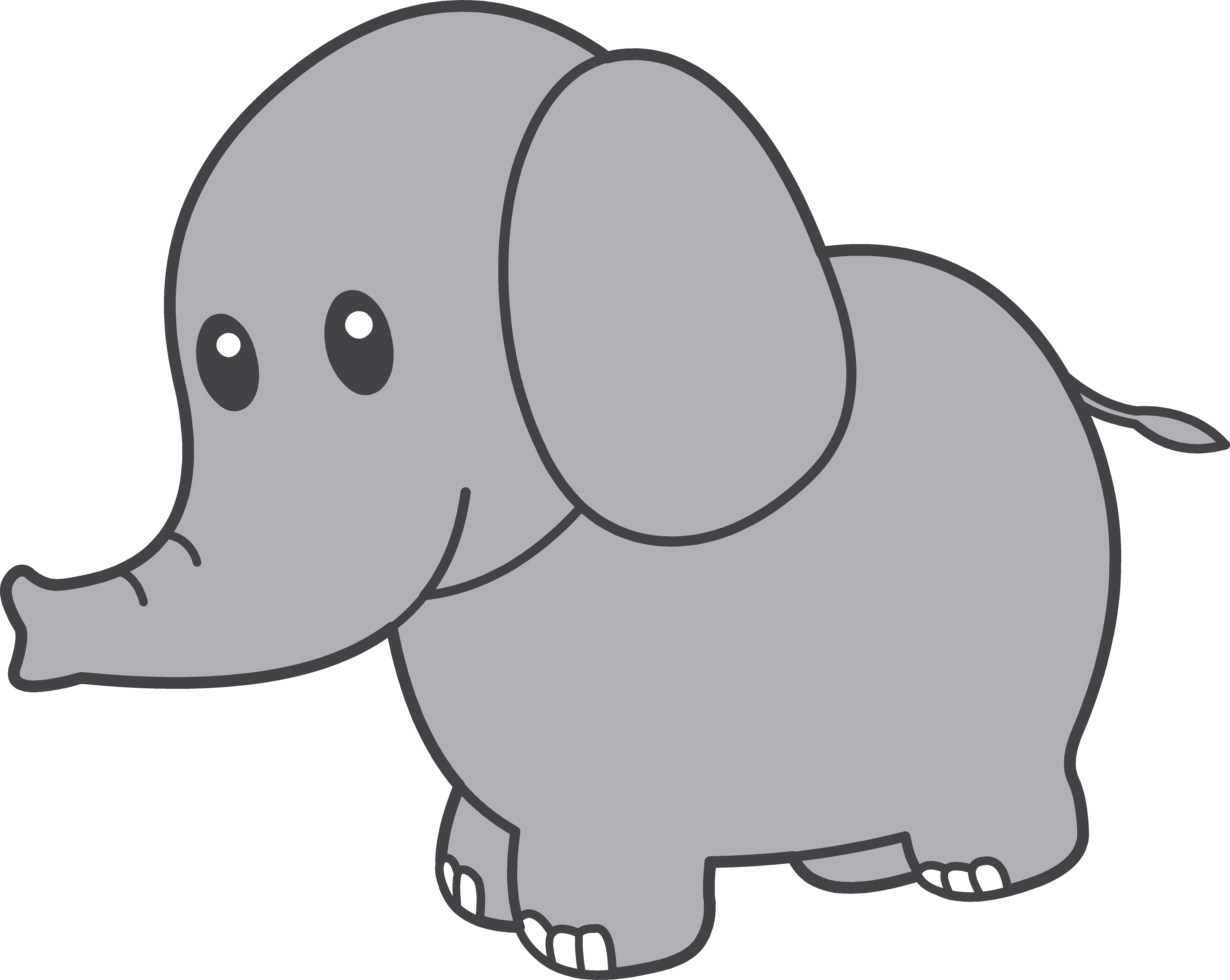 Grey Baby Elephant Clipart - Elephants Clip Art