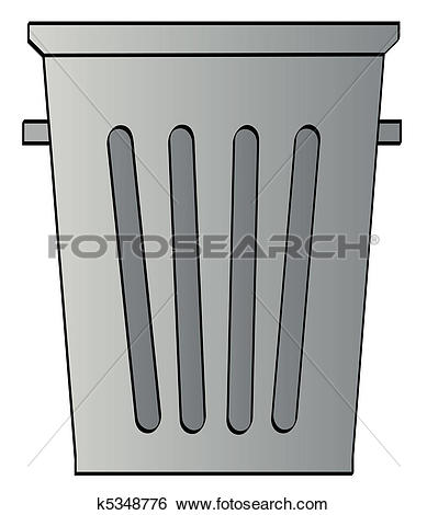 Grey Garbage Can On White Background-grey garbage can on white background-8