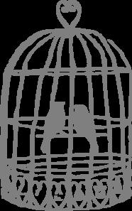 Grey Lovebirds Birdcage Clip .-Grey Lovebirds Birdcage Clip .-11