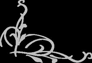 Grey Vines Corner Clip Art At - Corner Clip Art