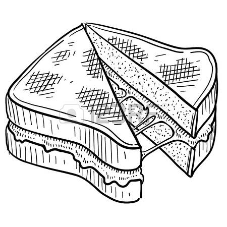 grilled cheese: Doodle style gooey grill-grilled cheese: Doodle style gooey grilled cheese sandwich illustration in vector format-15