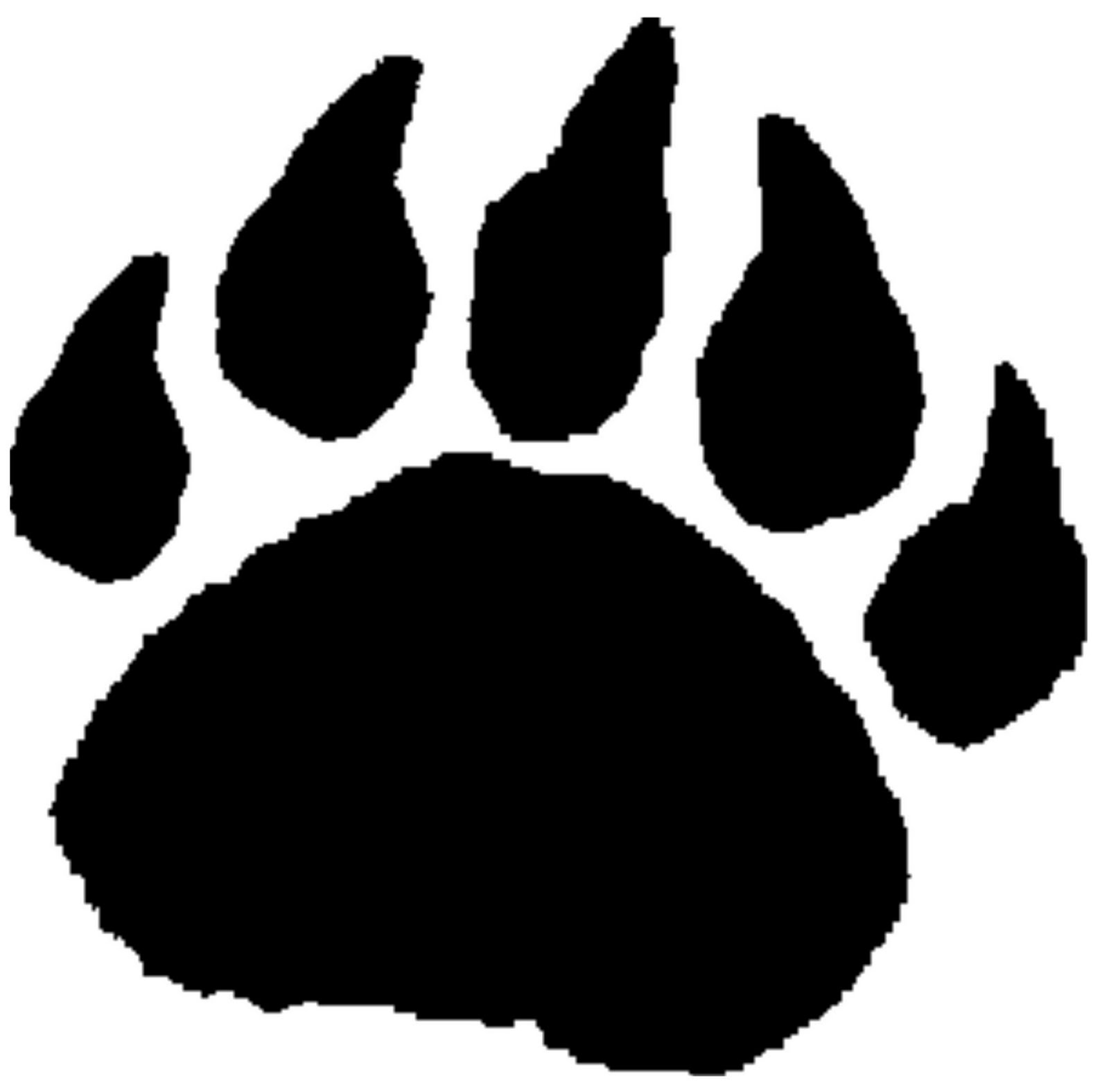 grizzly bear paw print clipart