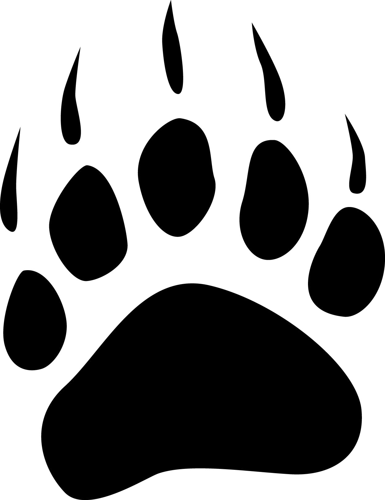 grizzly bear paw print clipart-grizzly bear paw print clipart-0