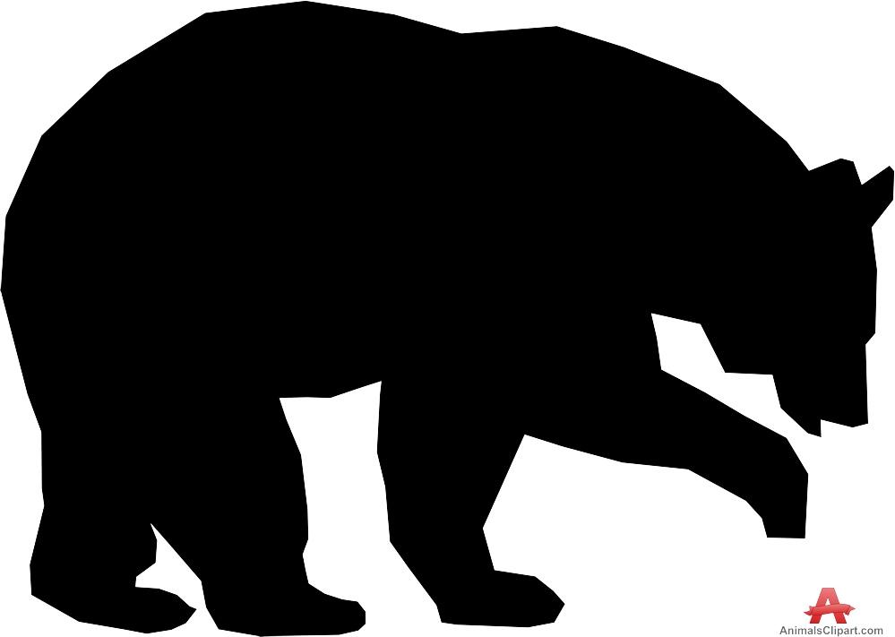 Grizzly Bear Clipart. Large Bear Silhoue-Grizzly Bear Clipart. Large Bear Silhouette-11