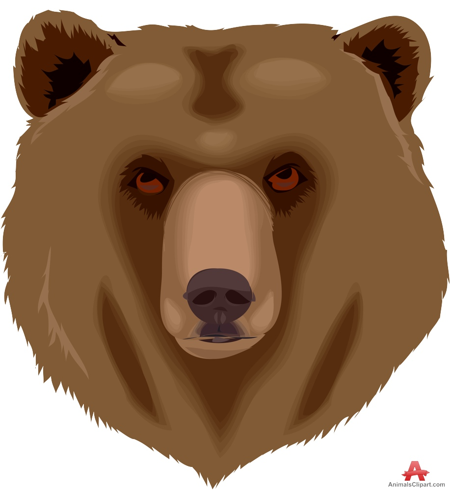 Grizzly Bear Face Clipart