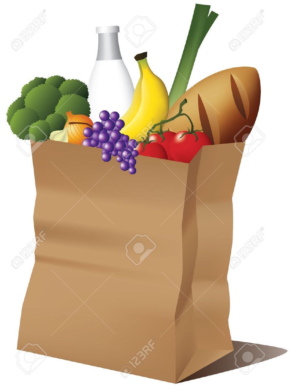 groceries bag: Grocery paper .