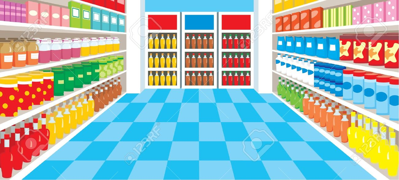 grocery store aisle: .