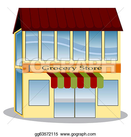 Grocery store aisle u0026midd - Grocery Store Clipart