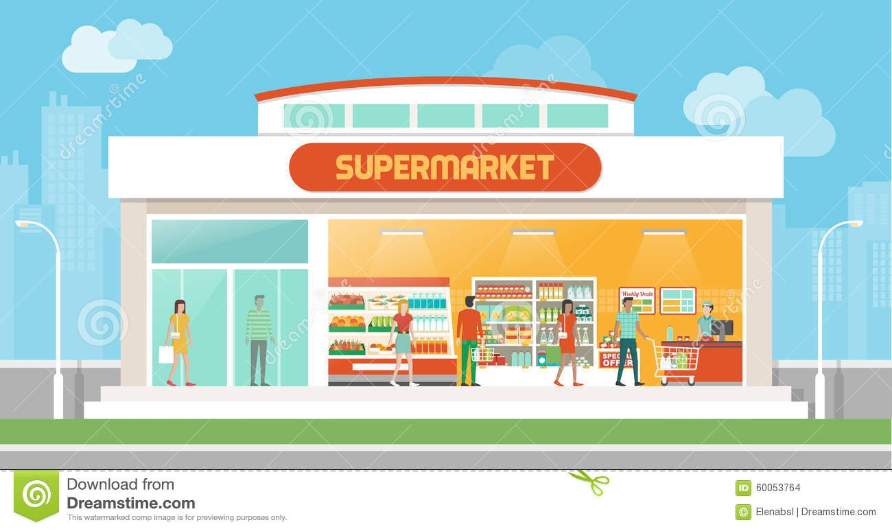 Grocery Store Building Clipart .-Grocery Store Building Clipart .-16
