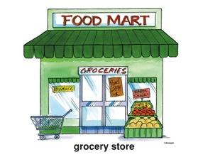 supermarket clipart