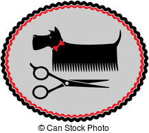 ... Grooming Scottish Terrier With Red B-... grooming scottish terrier with red bow and scissors-15