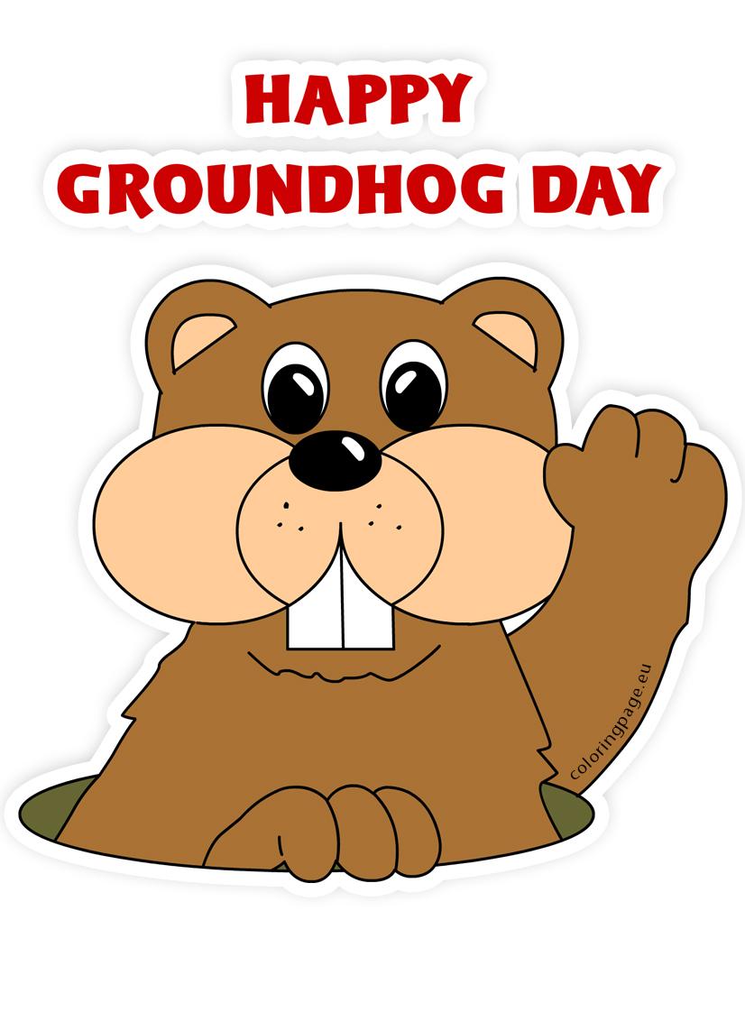 Groundhog cartoon clip art-Groundhog cartoon clip art-17
