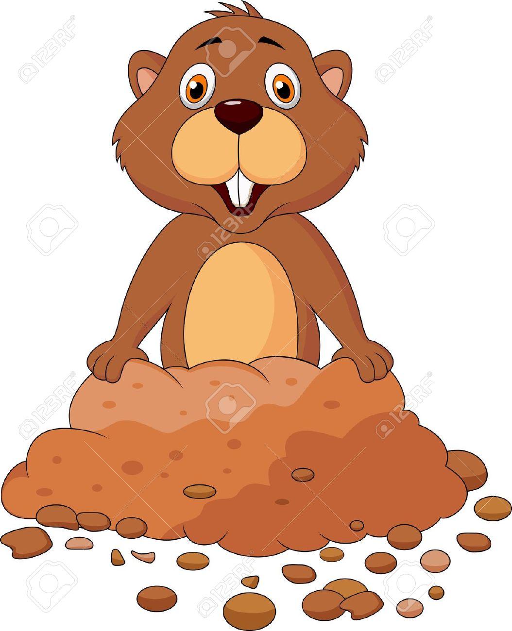 Groundhog Cartoon Clip Art-groundhog cartoon clip art-10