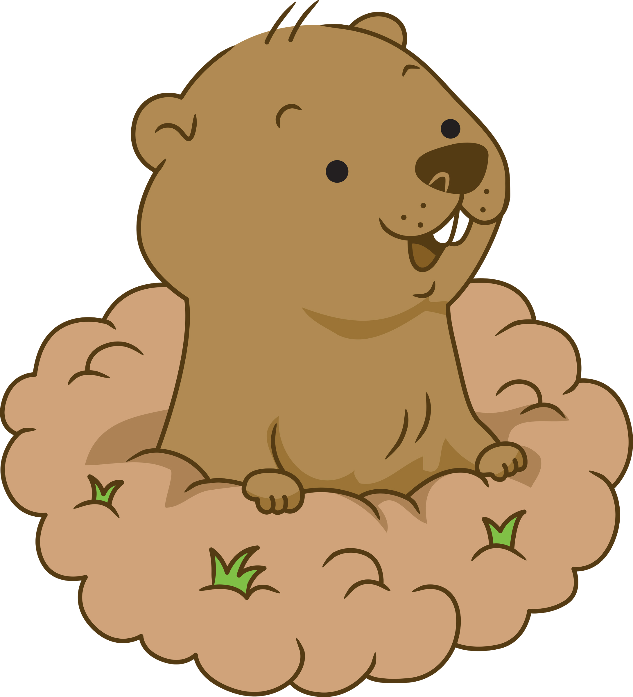 Groundhog cliparts. Free Groundhog Clipart