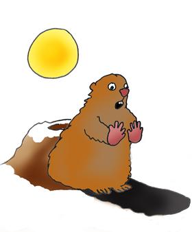 Groundhog cup cake, Groundhog looking at-Groundhog cup cake, Groundhog looking at shadow-17