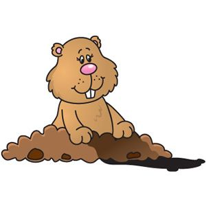 Groundhog Day Clip Art .-groundhog day clip art .-10