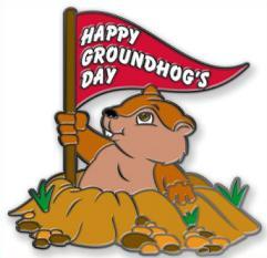 Groundhog day clipart. Happy Groundhog Day