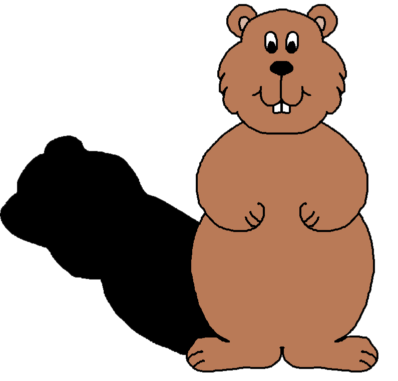 Groundhog day clipart. Happy