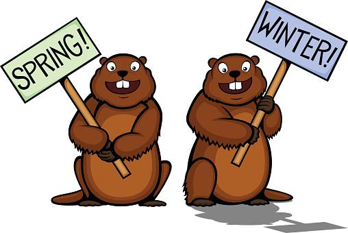 Groundhog Day vector art illustration
