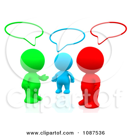 group of friends talking clipart