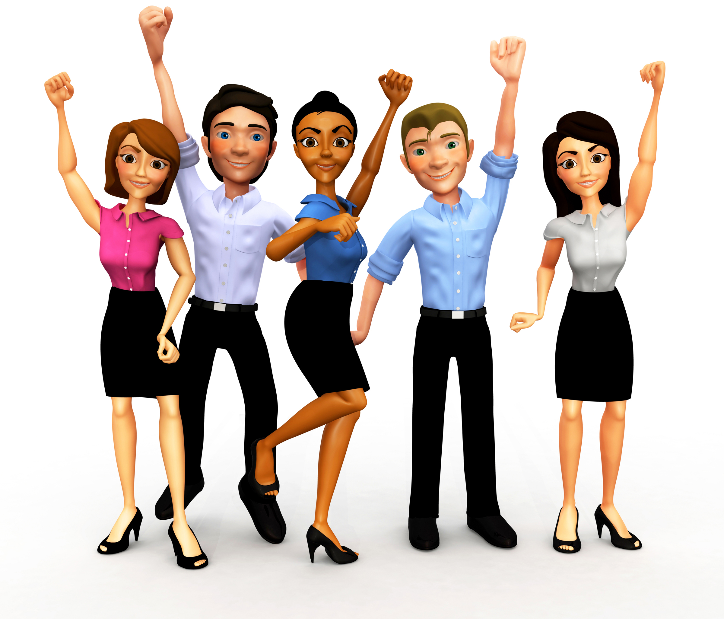 group of happy people clip art