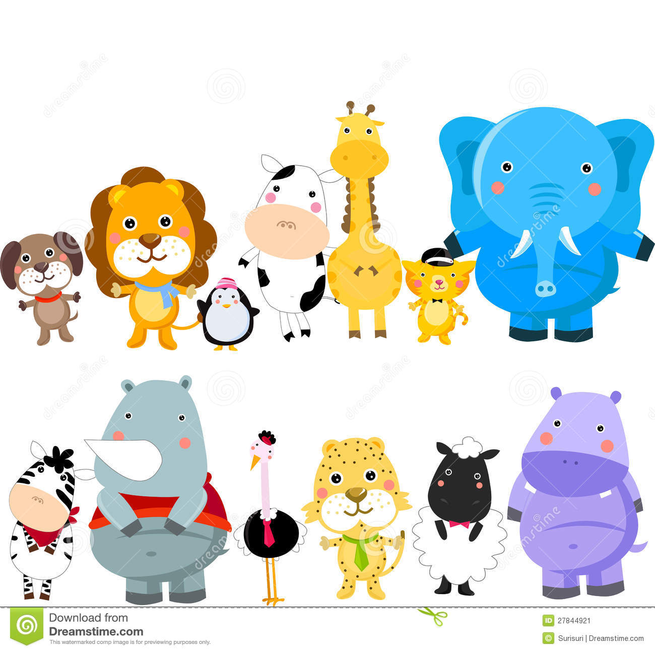 Group Of Animals Stock Image Image 27844921