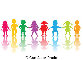 ... Group of colored children