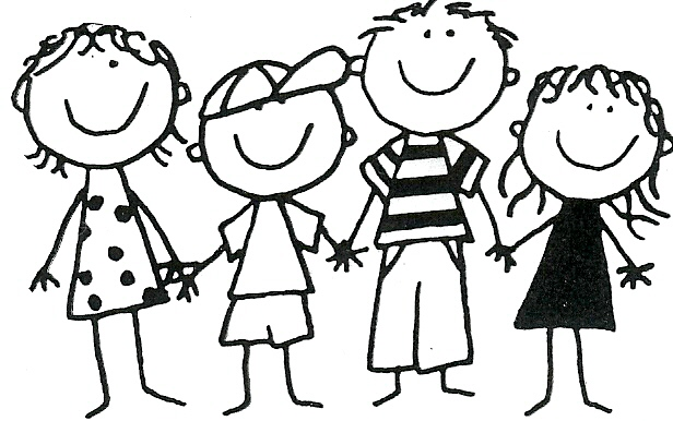 Group of friends clipart black .