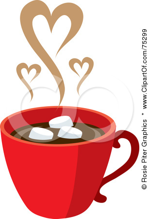 Group Of Royalty Free Rf Clipart Illustration Of A Red Cup Of Hot