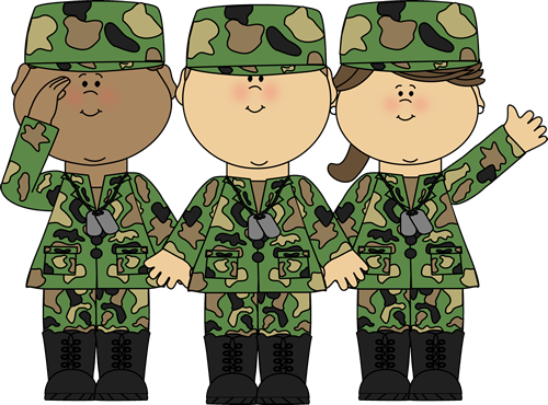 Group Of Soldiers Clip Art Image Group Of Soldiers In Uniform Waving