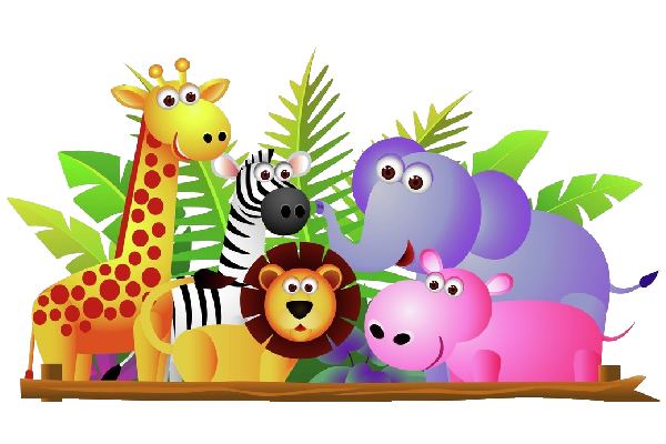 Group Of Zoo Animals Clipart .