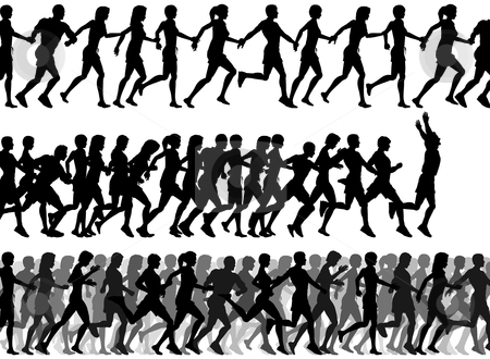 Group Running Clipart Foregro