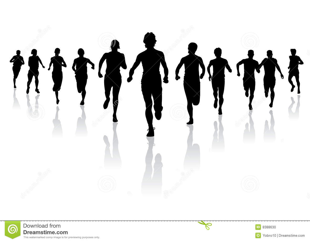 Group Running Clipart .