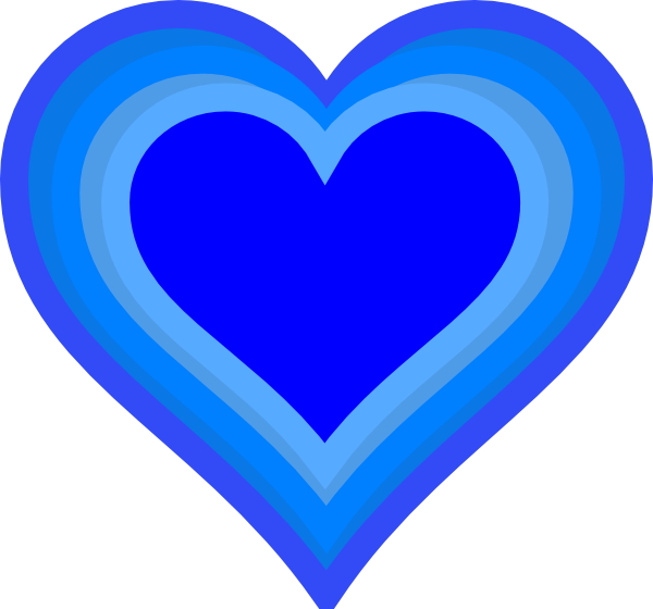 Growing Heart Clipart Free . - Blue Heart Clipart