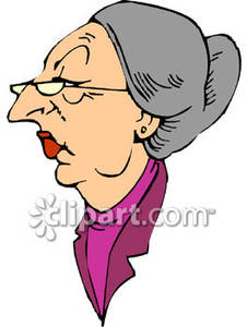 Grumpy Old Lady Clipart Cliparthut Free Clipart