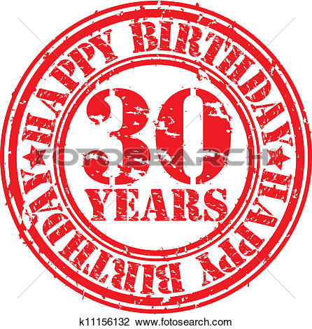 Grunge 30 Years Happy Birthday Rubb-Grunge 30 years happy birthday rubb-14