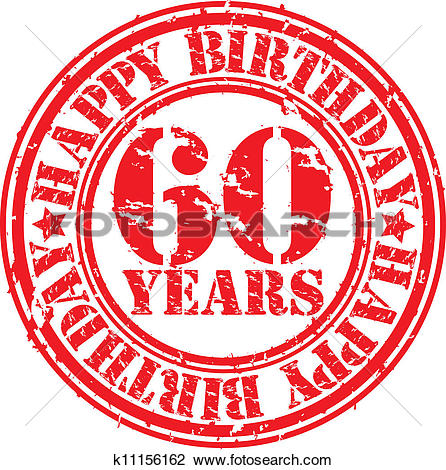 Grunge 60 years happy birthday rubb