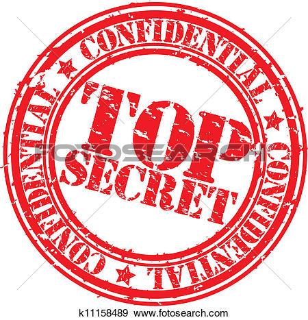 Grunge Top Secret Rubber Stamp, ...-Grunge top secret rubber stamp, ...-3