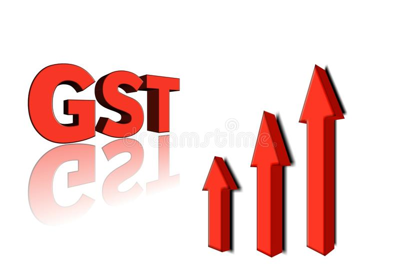 Download GST Word With 3 Red Arrow.3d Il-Download GST Word With 3 Red Arrow.3d Illustration. Stock Illustration -  Illustration of-6